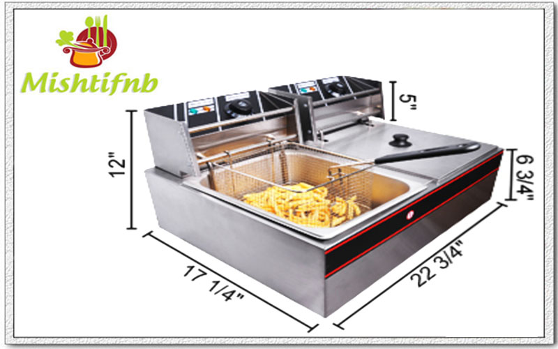 twin tabletop deep fat fryer